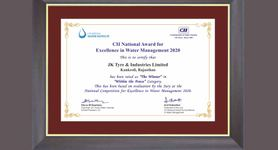 CII Recognises JK Tyre For Sustainable Manufacturing Efforts
